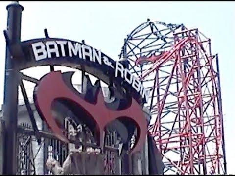 Batman & Robin The Chiller Roller Coaster Off-Ride POV Six Flags Great Adventure
