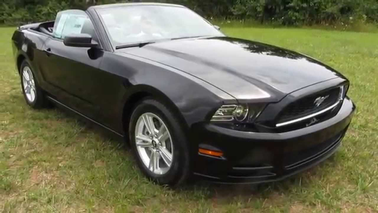 SOLD2013 FORD MUSTANG CONVERTIBLE BLACK V6 101A PACKAGE BRAND