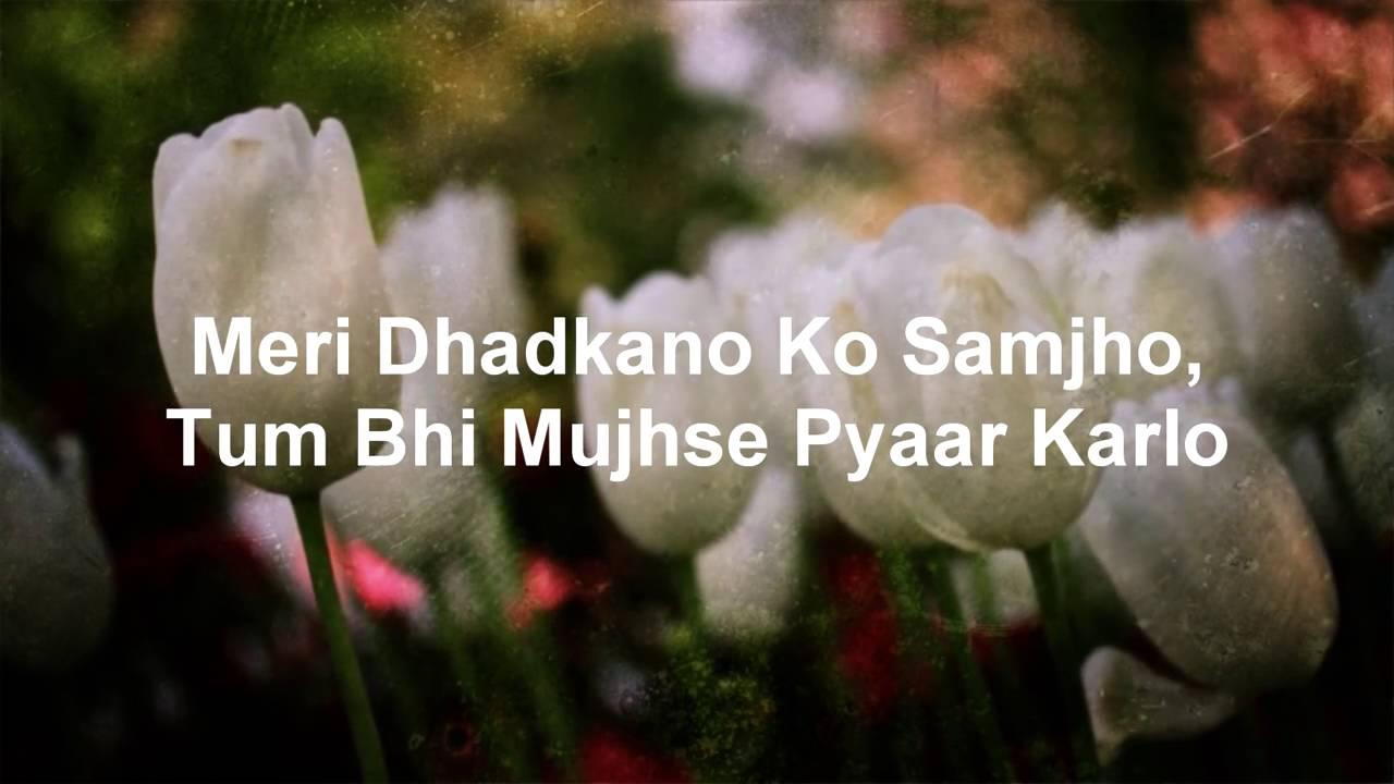 Dil Ne Yeh Kaha Hai Lyrics - Dhadkan | Alka Yagnik,Kumar ...