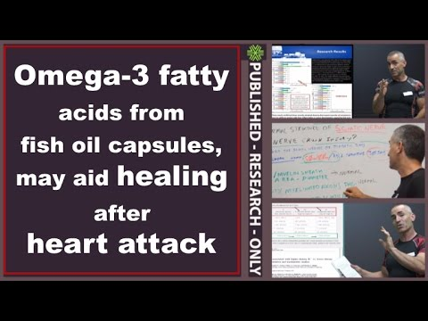 Omega-3 fatty acids from fish oil capsules, may aid healing after heart attack