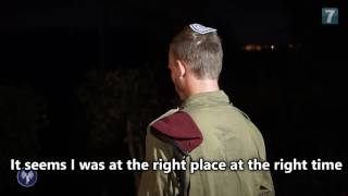 IDF soldier who neutralized the terrorist