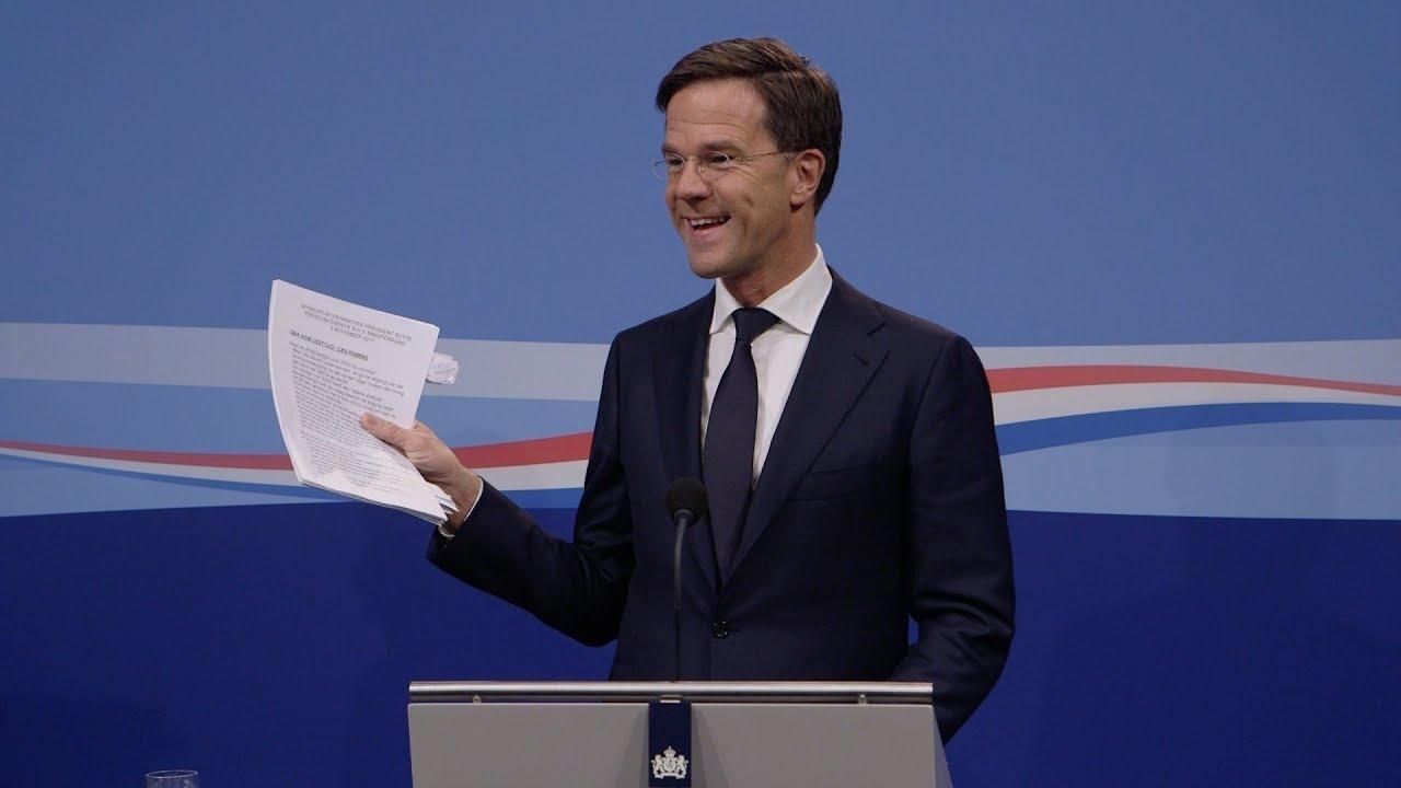 Integrale Persconferentie MP Rutte Van 3 November 2017