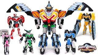 PowerRangers MysticForce Titan MegaZord MagiKing Phoenix Taurus Garuda Mermaid Fairy Transformation