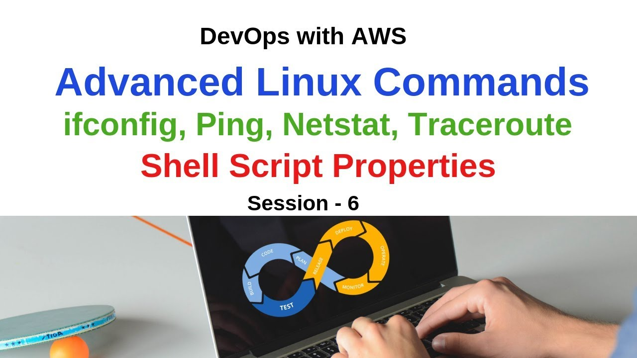 Linux Essentials for DevOps | ifconfig, ping, netstat, traceroute Commands  | Shell Script Tutorial