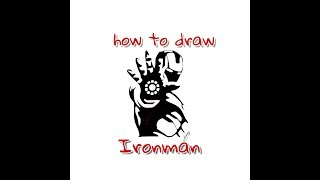 How to draw Iron Man From Avengers - Stencil Art - Art Maker Akshay