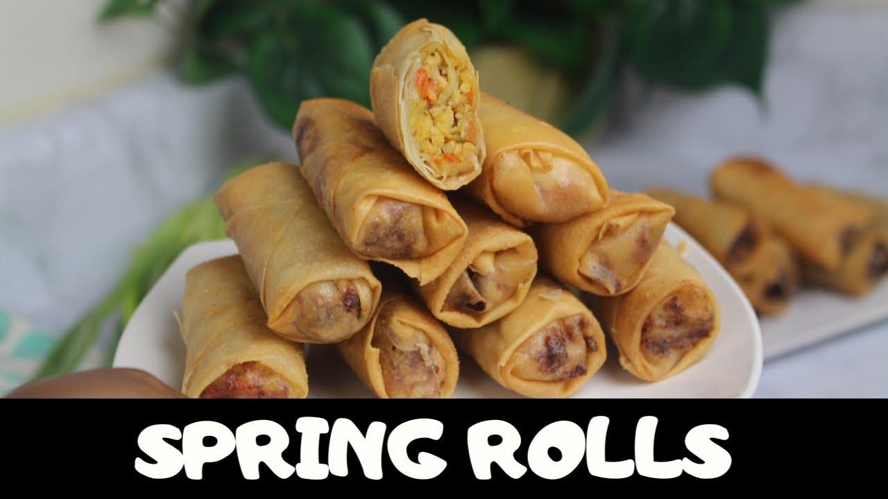 Download NIGERIAN SPRING ROLLS RECIPE | Chicken  spring rolls | Nigerian food