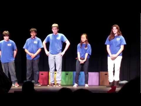 Theatre Sportz, RRMS, Blue Team, 12/14/12, Space Jump