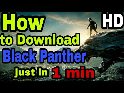 How to download Black Panther full 720p hd |dual audio Hindi