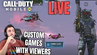 Custom Games with Viewers in Call of Duty Mobile LIVE (COD Mobile)