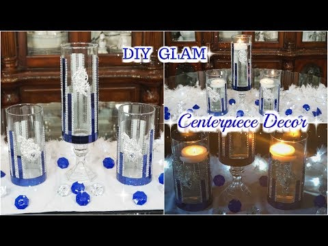 DOLLAR TREE DIY | GLAM EVENT CENTERPIECE DECOR | EASY & SIMPLE | BLING WEDDING DECOR IDEA 2019