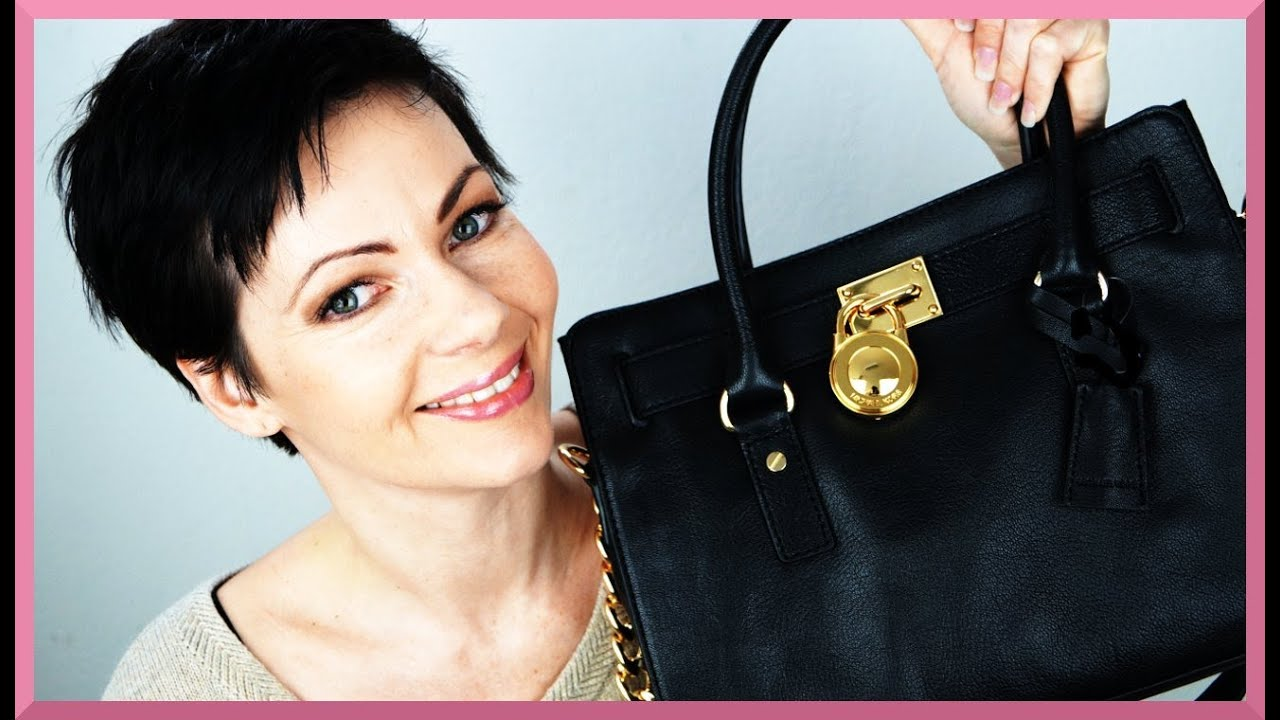 michael kors tasche bag hamilton e w satchel black handbag review. Black Bedroom Furniture Sets. Home Design Ideas