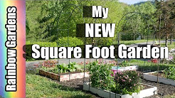 My NEW Square Foot Garden! Tips for a Compost Tumbler and a New SFG
