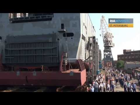 Russian Shipyard Completes Stern for First Mistral Warship