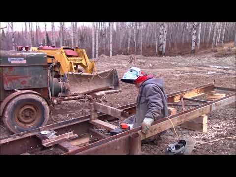 How I Build Log Bunks For Our Homemade Bandsaw Sawmill