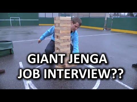 Giant Jenga Er Mega Tower Job Interview