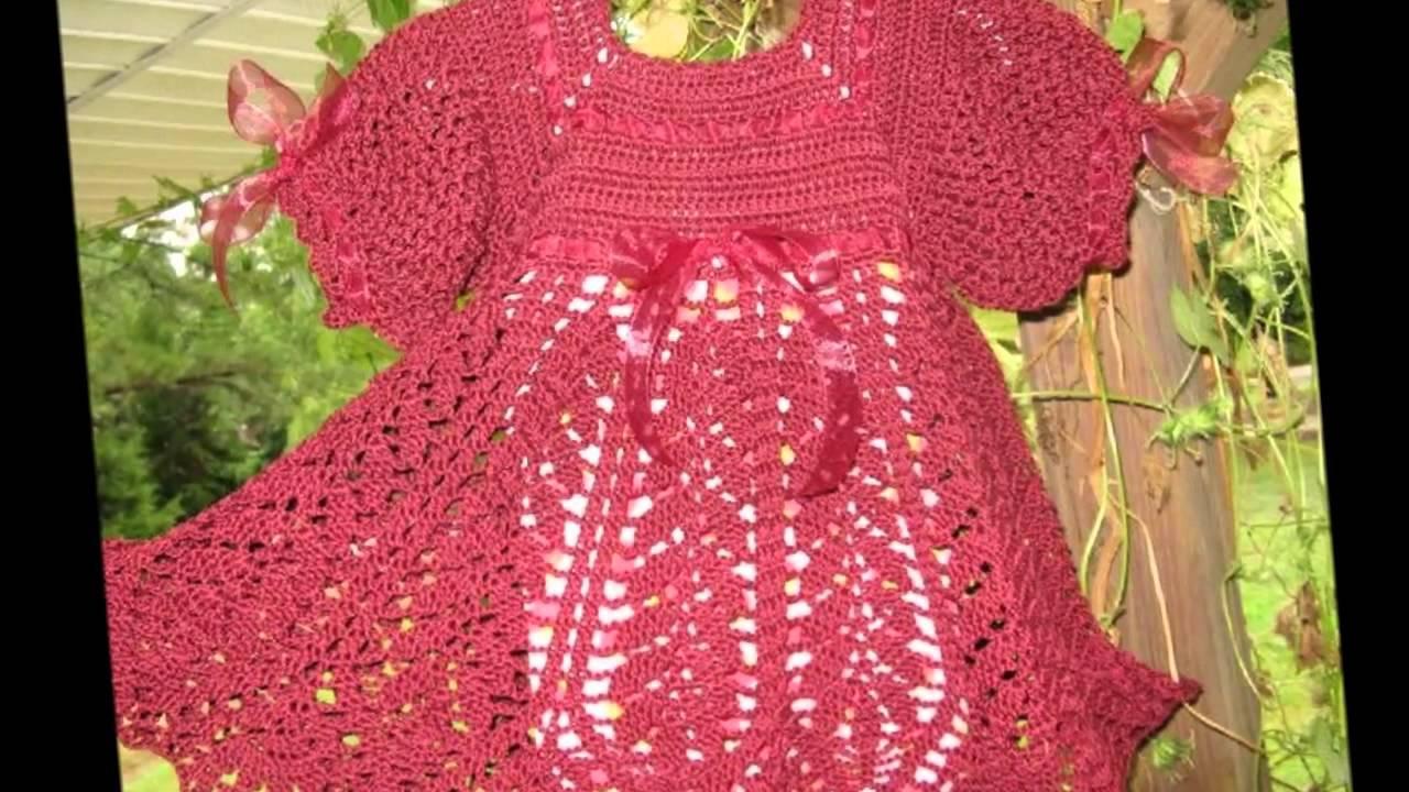 платье крючком для новорожденной схемы и описание