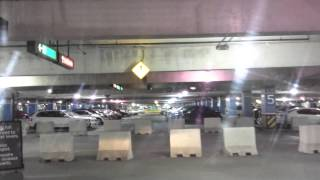 Toronto Pearson International Airport Terminal 1 parking) driving on the roof parking