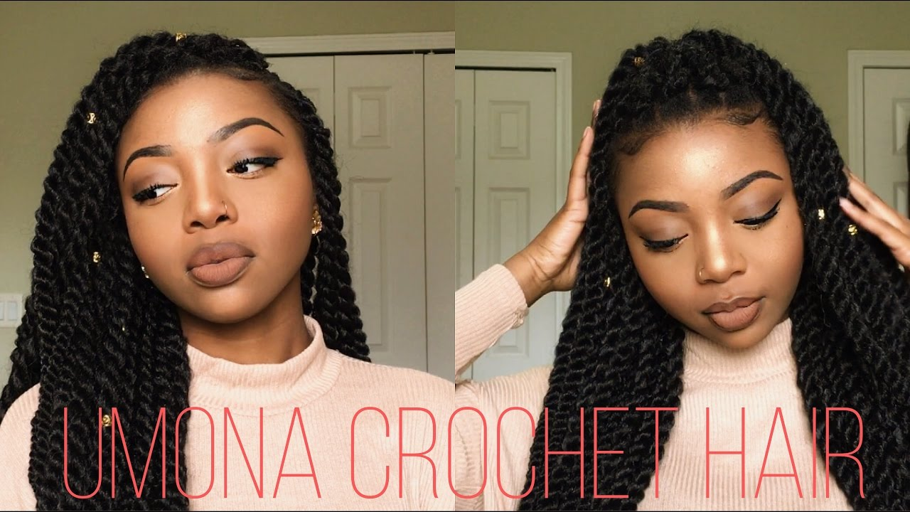 how to: easy individual crochet twists | no cornrows! | umona hair