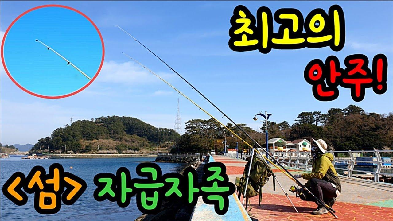 낚시 바다낚시 최고의 안주를 잡아서 먹어보자! [섬] 자급자족 낚시유튜버 낚시동영상 fishing 힐링영상