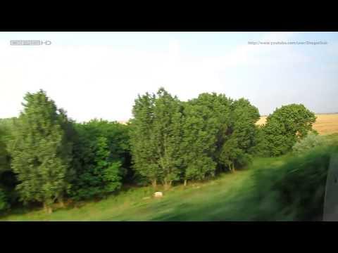 Fetesti - Medgidia - Tulcea - train ride - Zugfahrt - romanian routes - full backview - Dobrogea