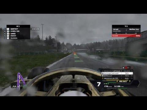 F1 2020, Spa sous la pluie, qualification - YouTube