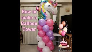 How to make a Balloon Tower / Column | DIY Balloon Tutorial
