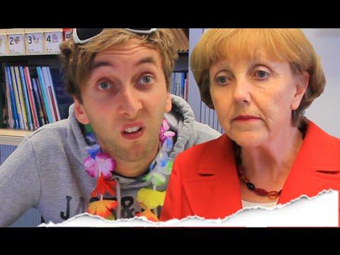 Sandra trifft Frau Merkel