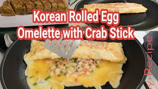 Korean Rolled Egg Omelette With Crab Stick//Malyn Jaromay
