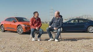 ANWB Dubbeltest Jaguar I-Pace vs. Tesla Model S 2018 (WAT IS DE BETERE LUXE EV?)