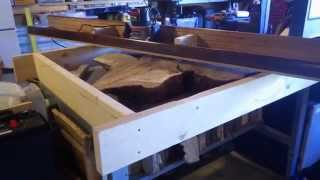 Giant Router Sled  ( Planing A Tree Stump Slab )
