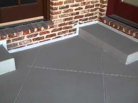 Steel Troweled Thin Finish Decorative Concrete Overlay Patio