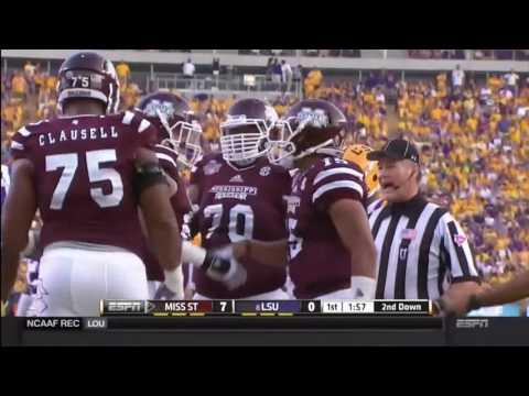Mississippi State LSU Football 2014 Abridged