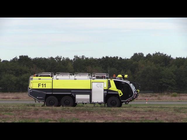 Inzet Crashtender Kleine Brogel tijdens Belgian Air Force Days