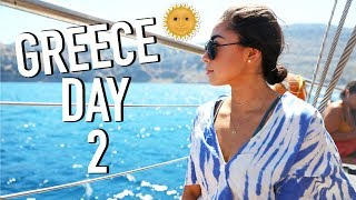 Swimming In Sulfur, Dancing w/ Locals, & More! Greece Day 2!