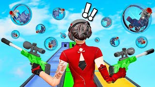 500IQ Fortnite SNIPER AIM Course! NOVO minigame (Fortnite Creative GameMode)