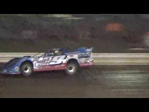 World Of Outlaw Latemodel Devin Moran hot lapping at Ark la Tex speedway