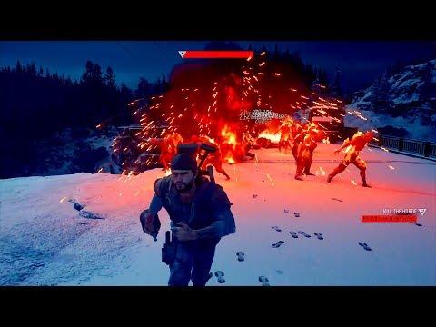 DAYS GONE | Survival Mode | Mt Scott Ski Resort Horde (no Damage)