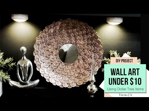 Make A Wall Mirror for Under $10 Doing This...