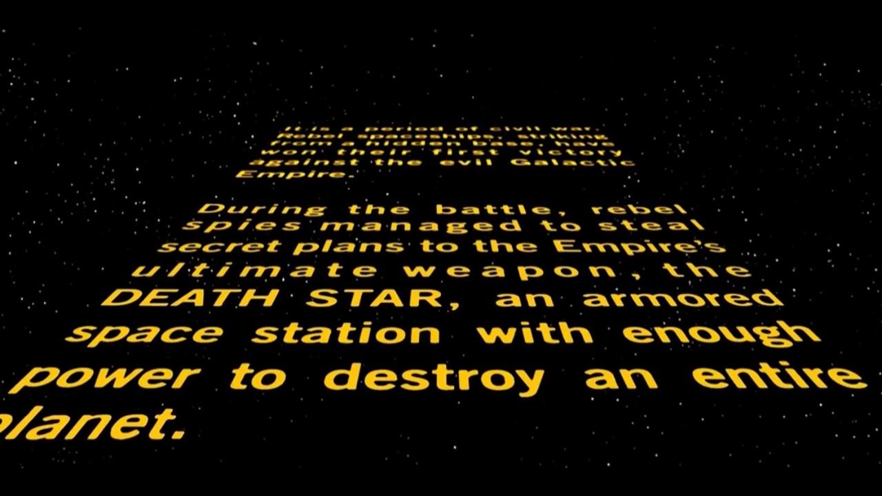 Star Wars 1977 Original Theatrical Crawl Youtube
