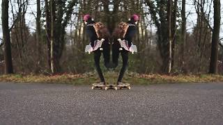 DAY IN THE LIFE 5 | LEARNING LONGBOARD TRICKS [New No-Comply]