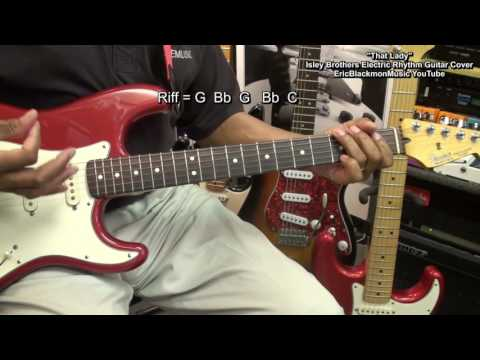 WHO's THAT LADY  The Isley Brothers Guitar Cover Play Along CHORDS FunkGuitarGuru Funk