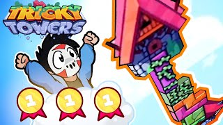 Tricky Towers  - CAN I DEFEAT TOONZ & SQUIRREL??? (3 Player VS)