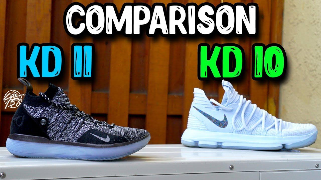 15af40f78987 Nike KD 11   KD 10 Comparison! - YouTube