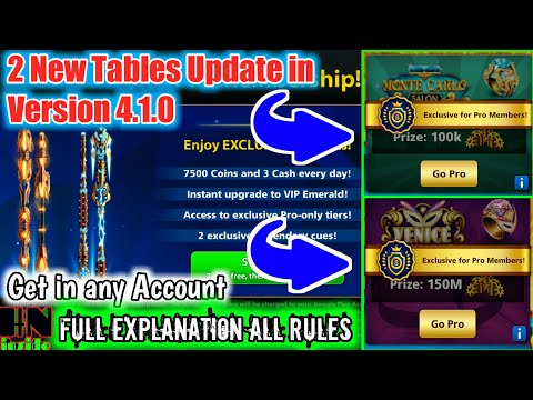 8 Ball Pool | 150M & 100K Tables Update in Latest version 4.1.0 | Full method To get in any Account