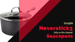 Eaziglide neverstick 3 saucepans 0.1