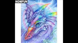 Diamond Painting Time Lapse - Color Dragon Part 3 and my Sleeping Daughter