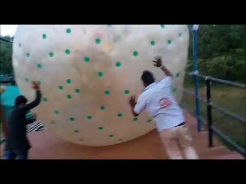 land zorbing picnic holiday party Awesome Adventure activity surat dumas roaming family friends kids