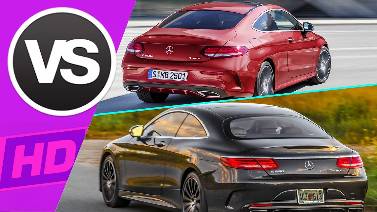 c class coupe vs s class coupe - youtube