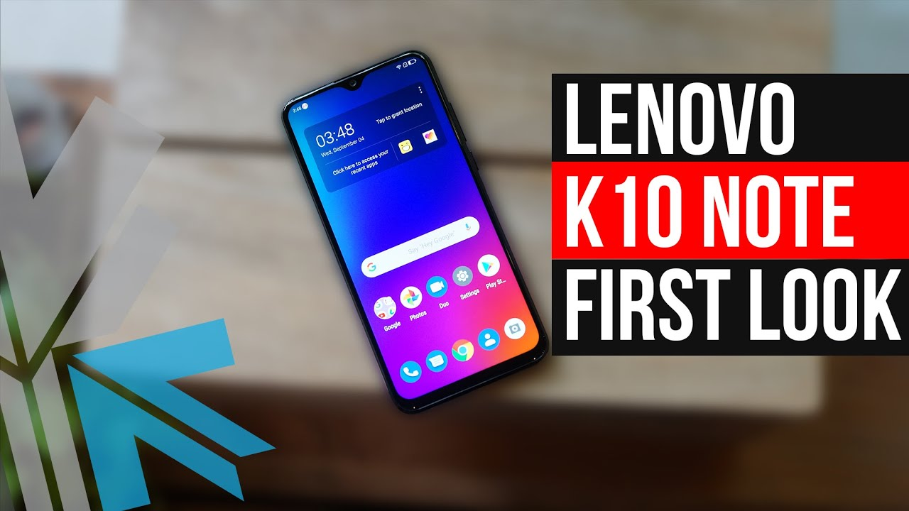 Lenovo K10 Note First Look Unboxing