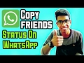 How to copy friends WhatsApp status - Latest WhatsApp Tricks 2017 [Hindi]